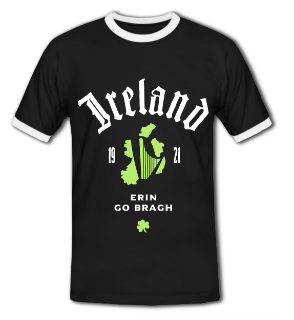 Ireland - Erin go Bragh T-Shirt in Schwarz